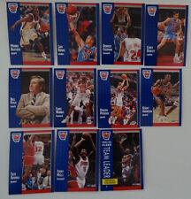 1991-92 Fleer New Jersey Nets Team Set Of 11 Basketball Cards
