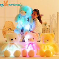 50cm Light Up LED Teddy Bear Stuffed Animal Plush Toy Colorful Glowing Xmas Gift