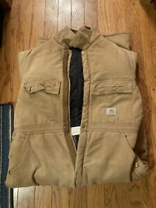 carhartt insulated coveralls x02 brn size44