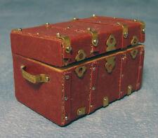 CASA delle Bambole Mobili in Ottone & LEATHER TRUNK D1732