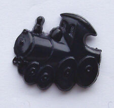 10   Shaped BUTTONS  Black TRAIN