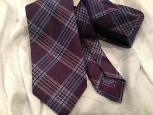 New BRIONI  made in Italy   Woven wool/Silk Neck Tie MSRP $230!