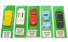 5pc 1971 Aurora Thunderjet T-Jet Tuff Ones Carded Blank Bodies Unused Rare Set !