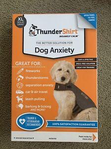 Thundershirt Dog XL 65-110 lbs Gray Solution Anxiety Thunder Fireworks Travel