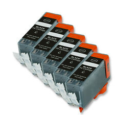 5 BLACK Ink Replacement w/ Chip for PGI-225 Canon MG5220 MG5320 MG6120 MG6220