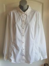 Women's Blouse White Button Front Dress Shirt Jaclyn Smith Size XXL NWT