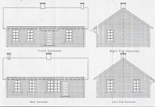C&S SECTION HOUSE HO Model Railroad Structure Unptd Craftsman Wood Kit CM39101