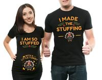 Pregnancy Couple T-Shirts Funny Thanksgiving Day Turkey Maternity Matching Shirt