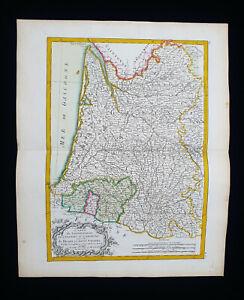 1785 ZANNONI: FRANCE, GASCOGNE, GUYENNE, PYRENEES, SPAIN, AQUITAINE, NAVARRE