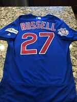 Addison Russell Signed Cubs Issued Jersey MLB Authentication Hologram JD649370
