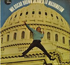 "OSCAR BROWN JR ""GOES TO WASHINGTON"" SOUL VOCAL JAZZ 60'S LP FONTANA 27540"