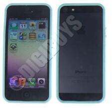 Fundas y carcasas transparentes Para iPhone 5 color principal azul para teléfonos móviles y PDAs