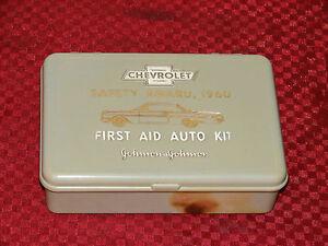 60 61 CHEVROLET IMPALA SAFETY AWARD FIRST AID AUTO KIT JOHNSON & JOHNSON