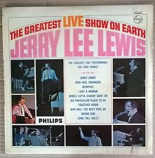 JERRY LEE LEWIS Greatest Live Show On Earth '64 UK PHILIPS label MONO vinyl LP