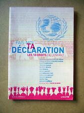 Livre Les 10 droits de l'enfant Unicef /N18