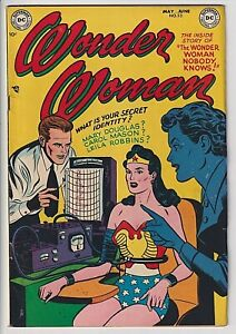 Wonder Woman # 53 F/VF 7.0 Great Looking Scarce ONLY 29 EVER GRADED BY CGC WOW !