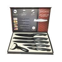 5tlg. Messer-Set + Sparschäler (Brot, Fleisch, Pizza usw.) ROYALTY LINE RL-CB5