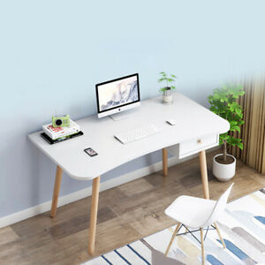 100cm White PC Desk Computer Table & 1 Drawer Office Study Kids Study Writing