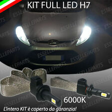KIT FULL LED FORD FIESTA MK6 LAMPADE LED H7 6000K BIANCO GHIACCIO NO ERROR