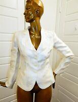 Armani Collezioni sz 44 8 100% Silk Ivory Floral Jacket Italy