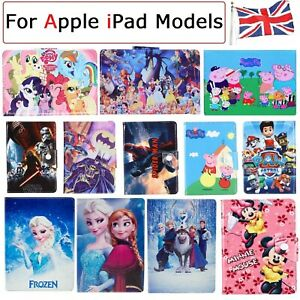 For Apple iPad Models Boys Girls Kids Present Case Protective Disney stand Cover