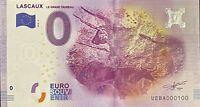 BILLET 0  EURO LASCAUX LE GRAND TAUREAU FRANCE  2016 NUMERO 100