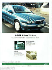 PUBLICITE ADVERTISING  026  2002  Jaguar  X-Type v6 10CV