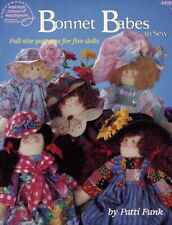 Bonnet Babes to Sew Full Size patterns for 5 Dolls ASN4416 46 pages.