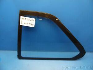 88-91 Honda Prelude OEM rear Left Driver side corner window quarter glass STOCK