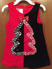 Toddler 24 Month Bonnie Baby Red Corduroy Dress Christmas Tree Jumper Holiday