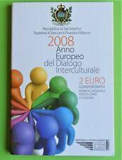 SAN MARINO 2008  2 euro com  dialoog  BU