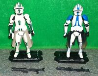 Star Wars Commander Bow (Blue) + Green Clone Trooper Commander Lot - Used