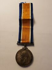 """British WWI Silver """"British War Medal"""" Pte. J.T. Chambers Lancashire Fusiliers"""