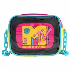 Loungefly x MTV Clear Cross Body Bag with Interior Pouch