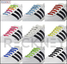 Elastic No Tie Shoe Laces Silicone Shoelaces For Adults & Kids Trainers Shoes