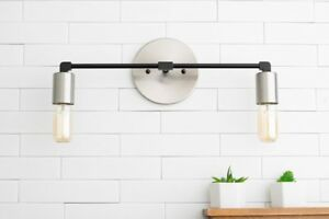 Vanity Light - Nickel Lighting - Industrial Lighting - Wall Light - Vanity - Bru