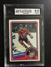 1984-85 O-Pee-Chee #259 Chris Chelios RC KSA 8.5 NMM