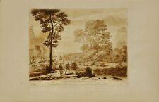 Claude Lorrain: A landscape with Aeneas (1776). Original-Kupferstich
