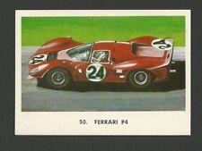 Ferrari P4 Racecar Vintage Car Collector 1972 Trading Card from Spain