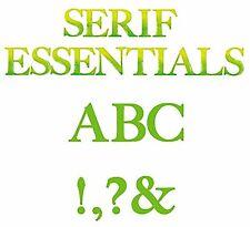 Sizzix Bigz Serif Essentials Alphabet set #655128 MSRP $149.99 designer EL Smith