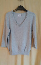Marks and Spencer Women's V Neck 3/4 Sleeve Jumpers & Cardigans