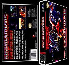 Ninja Warriors  - SNES Reproduction Art Case/Box No Game. Super Nintendo