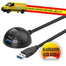 CABLE PROLONGADOR ALARGADOR USB 3.0 1,5m SOBREMESA DOBLE 2xUSB ALARGADERA