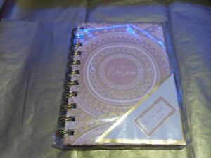 A6 BINDER NOTEBOOK WITH PINK & GOLD PATTERN DESIGN BRAND NEW