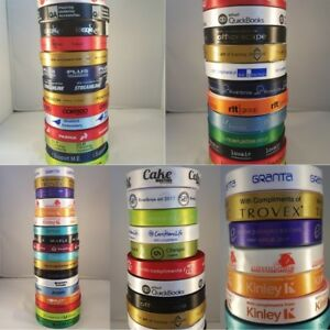 Personalised Corporate Small Business Ribbon 25mm Satin Your Logo Any Wording