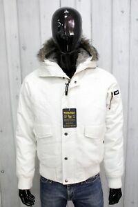 WOOLRICH&BROS Taglia XL Giubbotto Bianco Giubbino Jacket Uomo Giacca Coat Parka