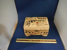 """Vintage Hand-Painted French Marketplace """"Fur Elise"""" Jewelry Music Box"""