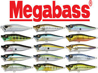 "Megabass Pop-X 2 1/2"" - 1/4 oz. Topwater Popper Bass & Striper Fishing Lure"