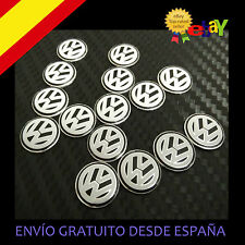 2X EMBLEMA LOGO VW PEGATINA LLAVE 14 MM  MANDO LLAVE VOLKSWAGUEN GOLF POLO NEGRO