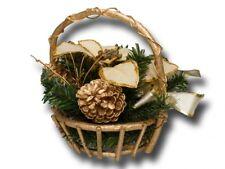 DEKO 19501 Weihnachtskorb Adventsgesteck mit Weihnachtsstern künstlich